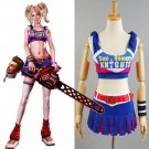Free Shipping Lollipop Chainsaw Costume Juliet Starling Cosplay Costume Halloween Carnival