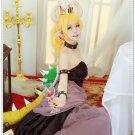 Free Shipping Bowsette Kuppa Hime Bowser Koopa Cosplay Costume Princess bowser Super Mario