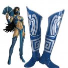 Free Shipping Mortal Kombat 9 Kitana Cosplay Shoes Boots Custom Made