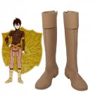 Free Shipping Black Clover Kingdom Golden Dawn Magic Knight Yuno Cosplay Boots Brown Shoes Custo