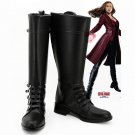 Free Shipping Captain America Civil War Scarlet Witch Wanda Maximoff Women Boots Cosplay Shoes