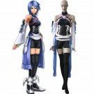 Free Shipping Kingdom Hearts Birth By Sleep Aqua Cosplay Costume