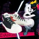 Free Shipping Danganronpa 3 Monokuma Cosplay Shoes Canvas Ankle Boots Women Men Dangan Ronpa Shoes