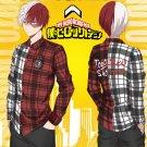Free Shipping MY HERO ACADEMIA Todoroki Shoto men's Shirt Cotton Plaid Shirt