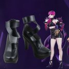 Free Shipping LOL League of Legends KDA Evelynn Cosplay Shoes Violet High Heel Women Boots Version 1