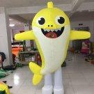 Free Shipping Inflatable Baby Shark Dance Yellow Shark Mascot Costume for Adult Halloween costume