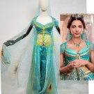 Free Shipping 2019 Movie Aladdin Jasmine deluxe Cosplay Costume Custom Made
