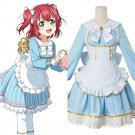 Free Shipping Aqours LoveLive Love Live! Sunshine Kurosawa Ruby Wonderland Alice Cosplay Costume