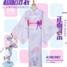 Free Shipping Re Zero Kara Hajimeru Isekai Seikatsu REM Kimono Yukata Cosplay Costume