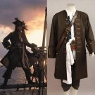 Free Shipping Pirates Of The Caribbean Cosplay Costume Captain Jack Sparrow Cosplay Costume