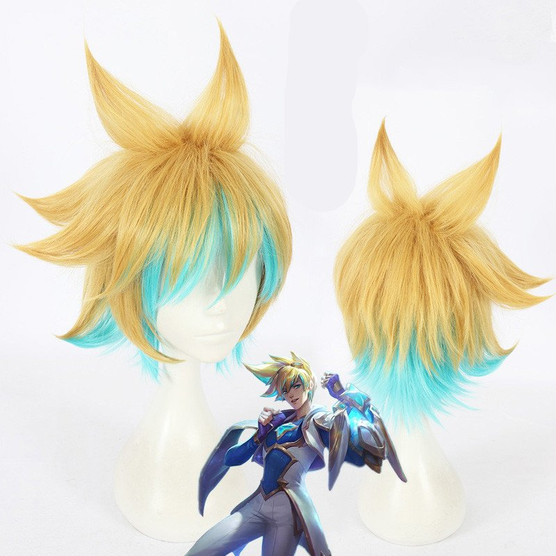 Free Shipping  Battle Academia Ezreal Cosplay wig LOL