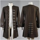 Free Shipping Pirates Of The Caribbean Jack Sparrow Jacket Coat Cosplay Costume