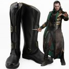 Free Shipping Thor The Dark World Loki Cosplay Shoes Boots Marvel The Avengers Loki Custom Made