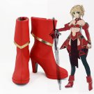 Free Shipping Fate/Apocrypha Servant Mordred Cosplay Shoes FA Saber Red Cosplay Boots