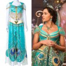Free Shipping 2019 Movie Aladdin Jasmine Cosplay Costume Custom Made