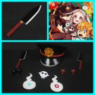 Free Shipping Jibaku Shounen Hanako-kun Toilet-Bound Hanako Kun Hat Ghost Fire Cosplay Knife Props