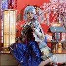 Game Genshin Impact Kamisato Ayaka Cosplay Costume Women Shenlilinghua Outfits Halloween Carnival