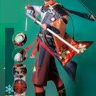 Game Genshin Impact Kiryu Kazuha Cosplay Costume Suit Gorgeous Kimono Uniform Halloween Party Outfit