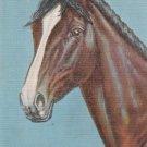 Signed Dude Larson Horse Head Postcard Vintage Linen 1941