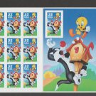 Tweety and Sylvester #3204 Mint NH Sheet 10 Stamps 1998 Looney Tunes