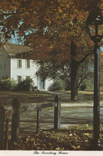 The Secretary House Postcard Greenfield Village Dearborn Michigan