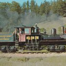 DIXIANA SHAY Postcard Train Locomotive Railroad Narrow Gauge