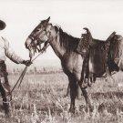 Cowboy's Best Friend Postcard Black Cowboy Horse Western History