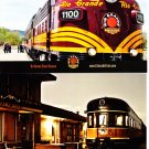 Rio Grande Scenic Railroad Postcards Lot of Two Locomotive Trains