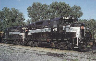 Finger Lakes Railway Postcard Locomotive 1702 Engine Train