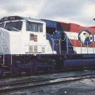 BURLINGTON NORTHERN Railroad Postcard GM Diesel Unit 1991