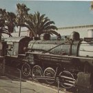 Engine 104 Train Postcard Railroad Steam Locomotive