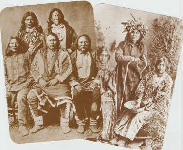 Lot of Two American Indian Postcards Native Ute Apache