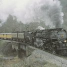 Postcard Clinchfield Challenger Locomotive No. 676 Railroad Train