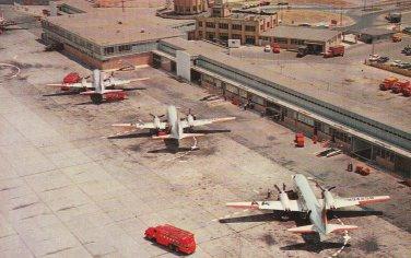 Buffalo Municipal Airport Old Postcard Aviation Airplanes