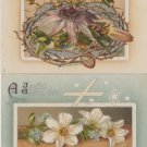 Two Tuck Easter Holiday postcard Antique Posted