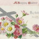 Postcard A Happy Easter Antique Tuck Unposted Embossed