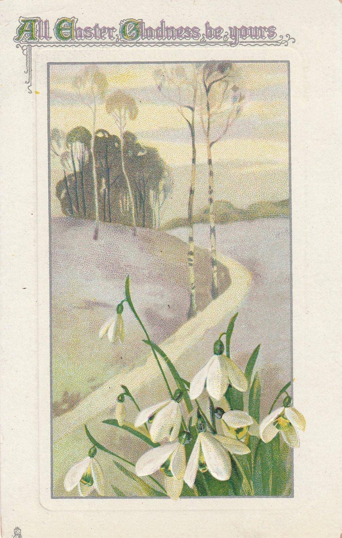 Easter Postcard Tuck Antique Postmarked 1914 VG Embossed