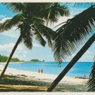 Beach Scene Postcard The Bahamas Vacation Holiday