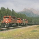 CP Rail Train Number 605 Postcard Locomotive Railroad Train