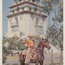 Tijuana Mexico Postcard Horse Charro Aqua Caliente Campanile