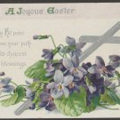 Raphael Tuck Postcard Embossed Easter Holiday Floral Antique