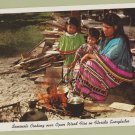 Postcard Seminole Indians in Florida Everglades Native American