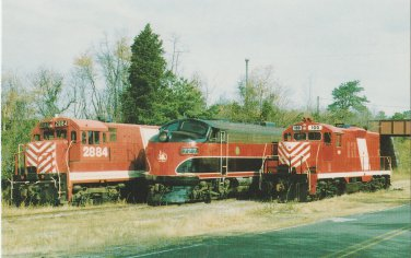 Southern Railroad of New Jersey Postcard Locomotives Trains