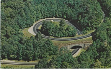 Postcard THE LOOP Great Smoky Mountains Tennessee Scenic