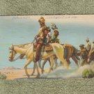 Postcard Antique CONQUiSTADORS HORSES Coronado Postally Used