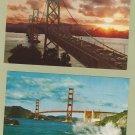 Two California BridgesColor  Postcards Golden Gate Oakland Bay