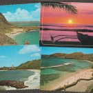 Lot of 6 HAWAII Postcards Beach Sunset Waimea Bay Scenic Oahu