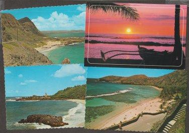 Lot of 6 HAWAII Postcards Beach Sunset Waimea Bay Scenic Oahu