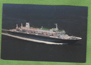 Cruise Ship Postcard Holland America Advertising Ocean Liner Nieuw Amsterdam
