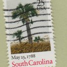 U.S. Bicentenary Stamp 25c South Carolina Scott #2343 1988 Used